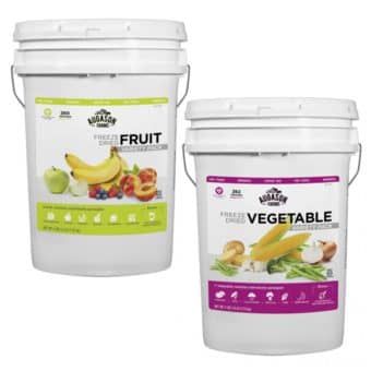Augason Farms Fruits and Vegetable Freeze Dried Food Package