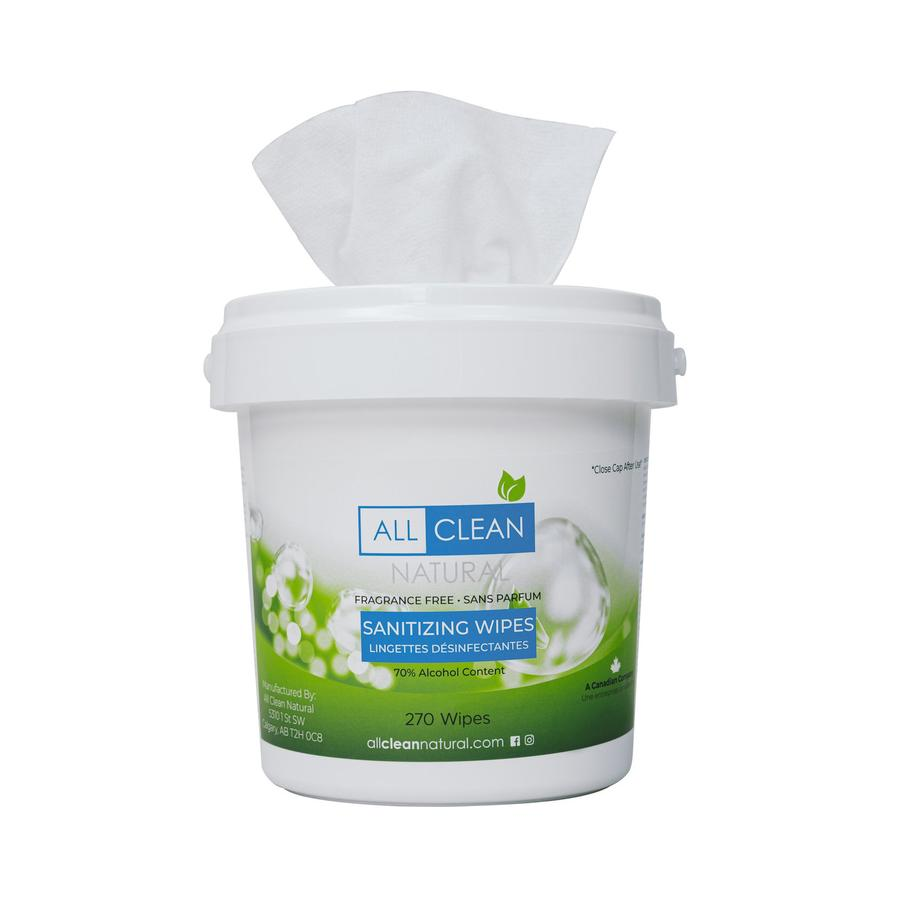 Small Pail of Sanitizing Wipes (270 count)