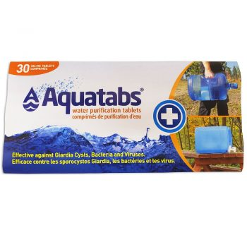 Aquatabs 20L tablet packaging