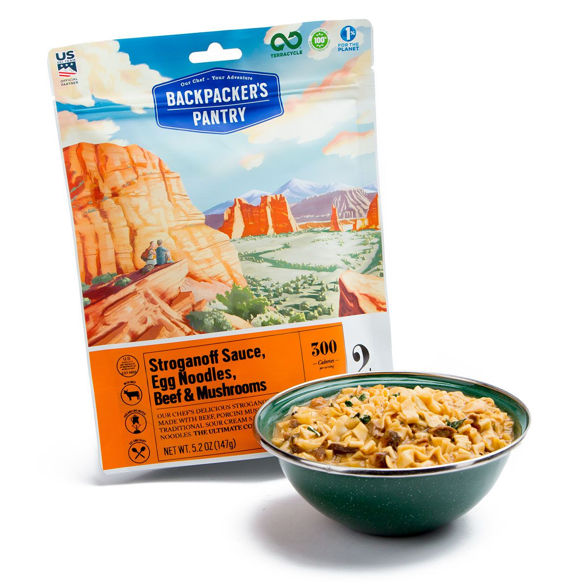 BP Beef and mushroom stroganoff bowl and pouch