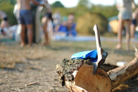 Summer Beach Party Log Axe