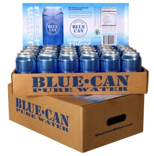 Blue Can Emergency Water