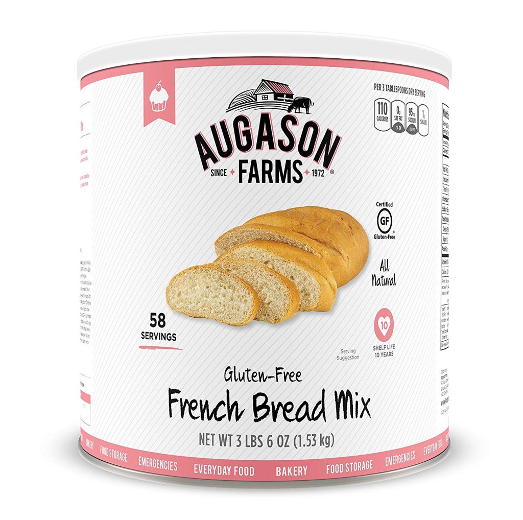 a can of Gluten Free French Bread Mix