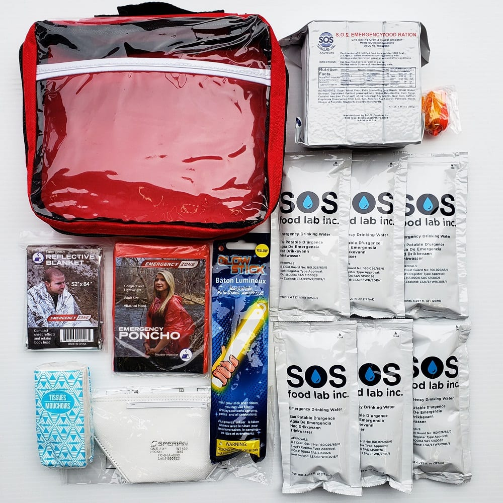 the contents of an individual essentials kit