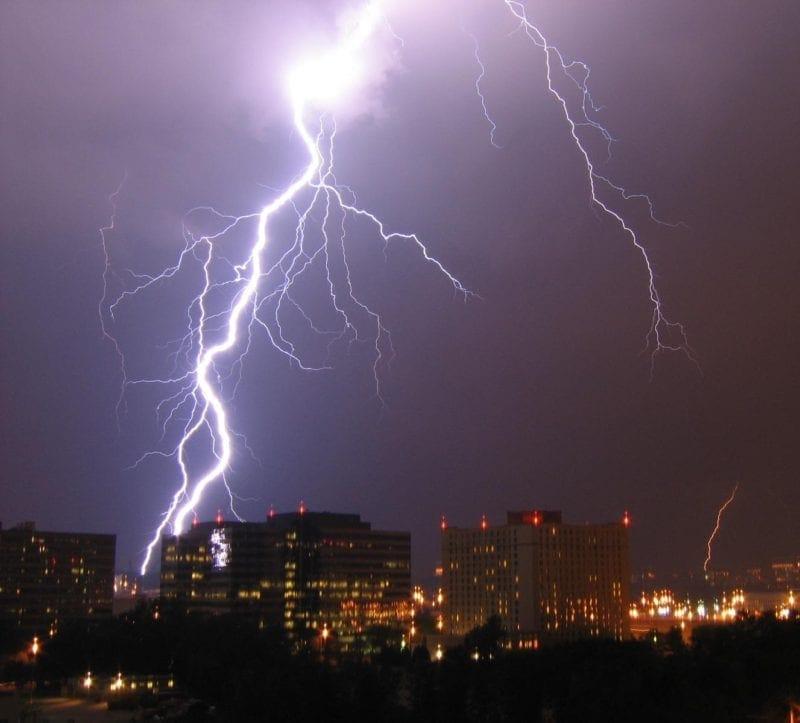 Lightening storm in Arlington