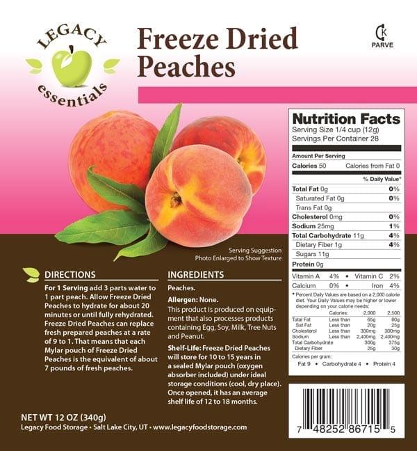 Peaches Label