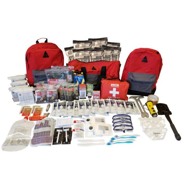A premium 4-person emergency kit.