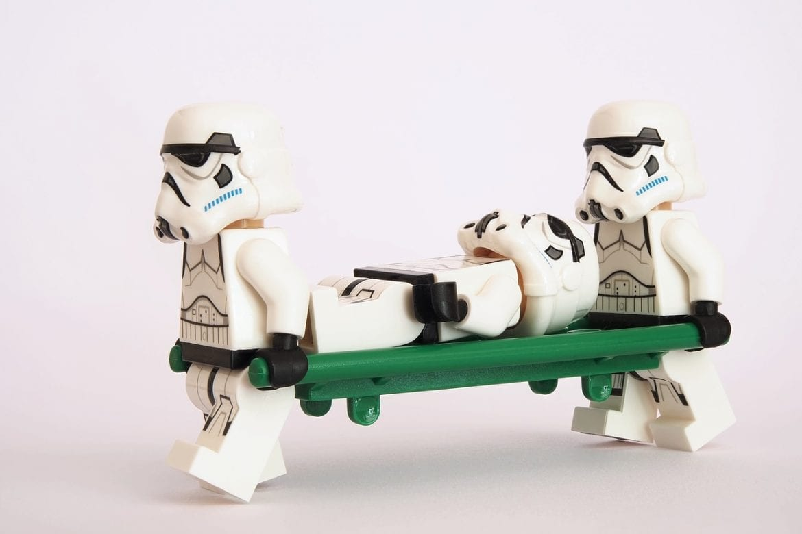 Storm Troopers know the value of proper first aid.