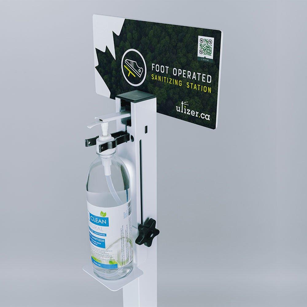 Utizer hands free universal sanitizer dispenser