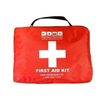 First Aid Bag clearly marked first aid with a big white cross for good measure.