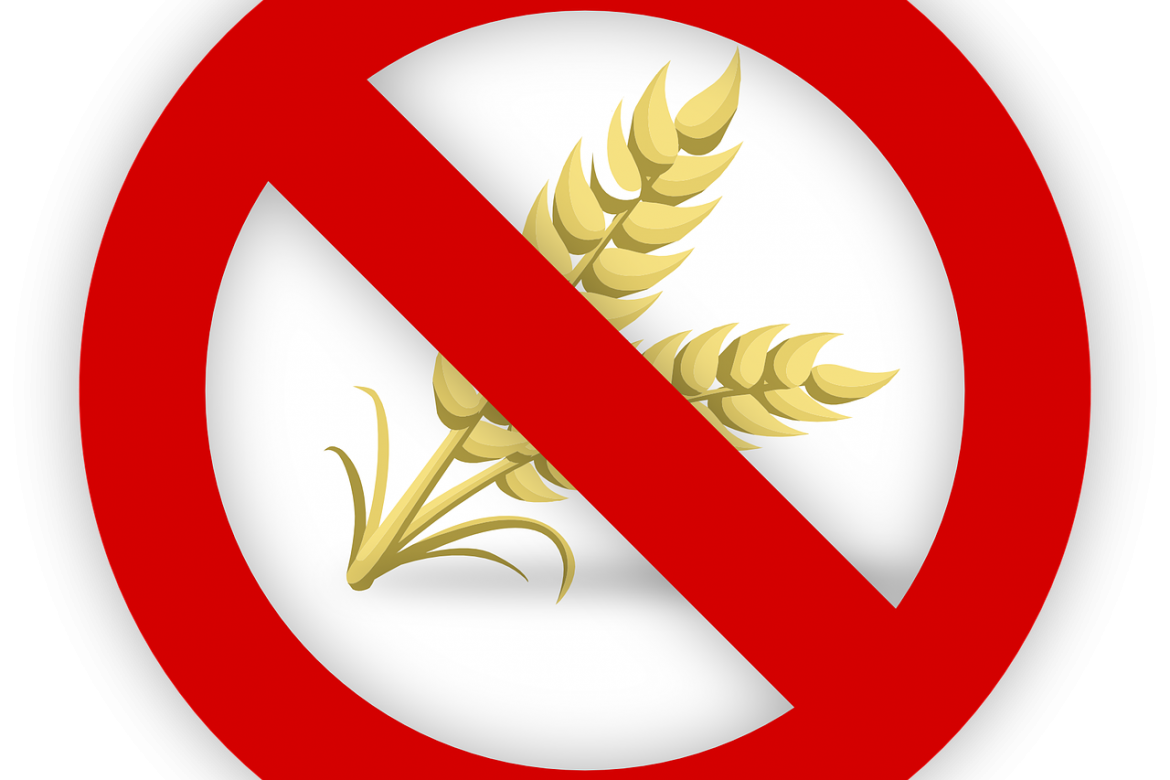 a wheat plant behind a no symbol