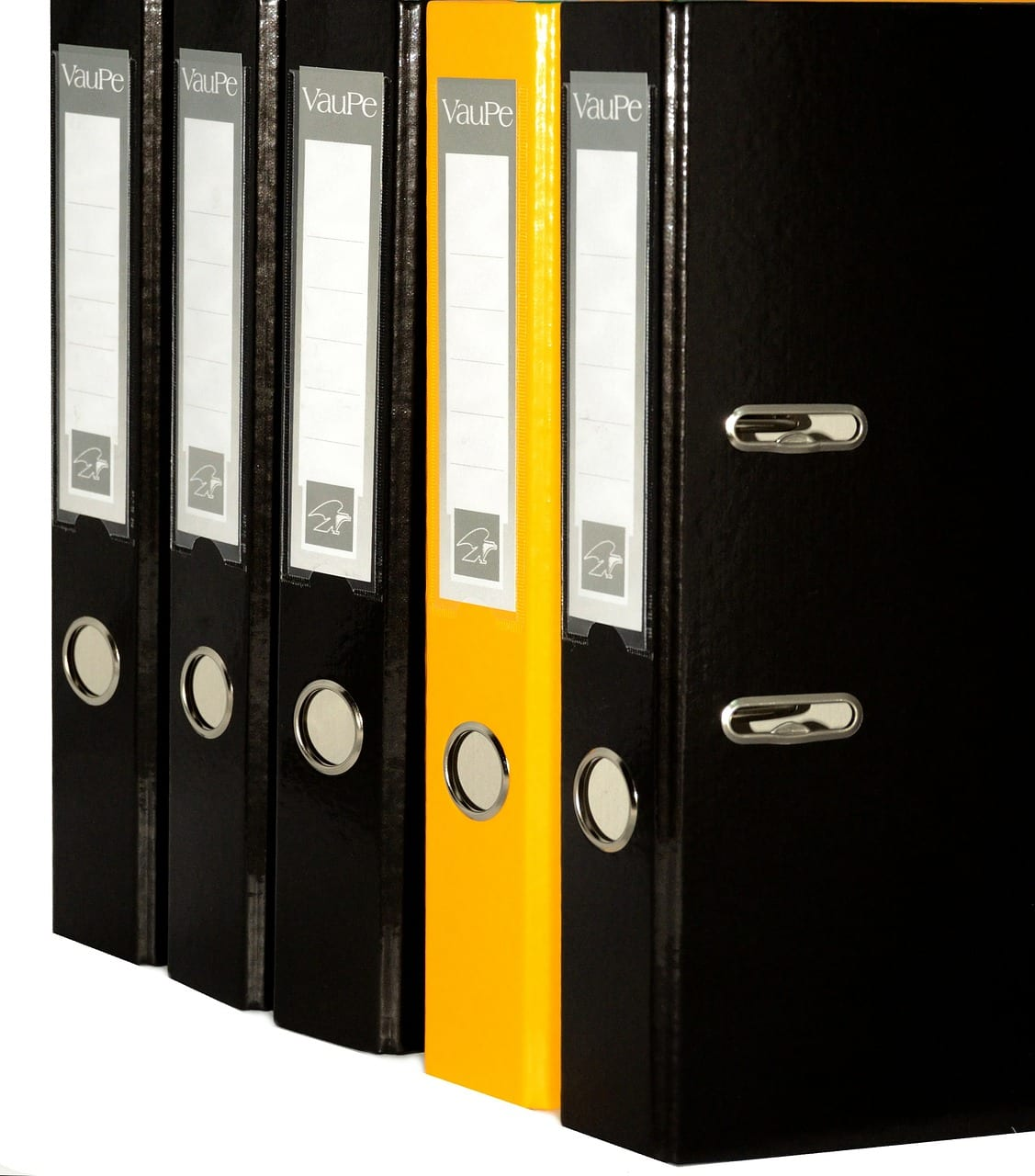Binders in a row
