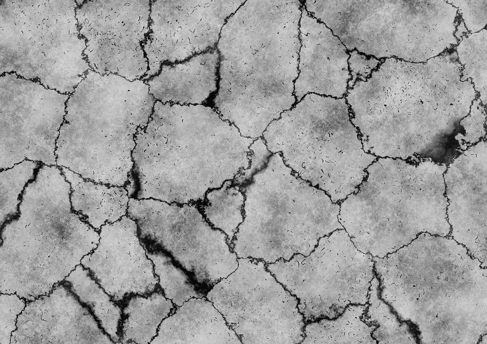 cracks in a desert