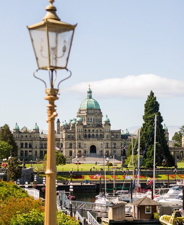 An image of the Capitol building in Victoria, BC.